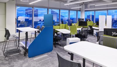 workstations, open workspace tech office